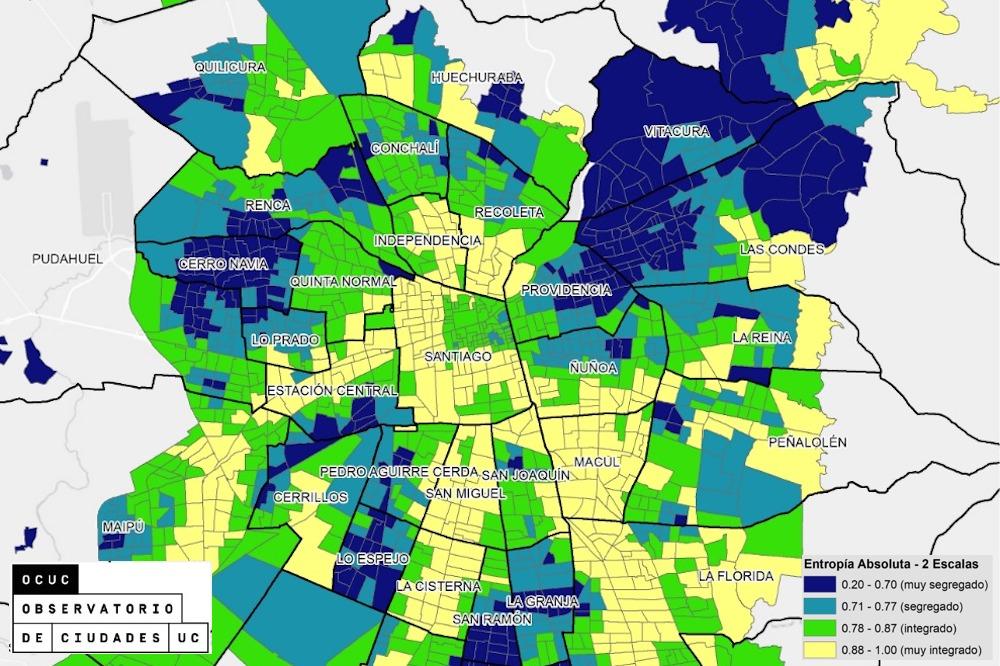 Mapa Segregacion Santiago